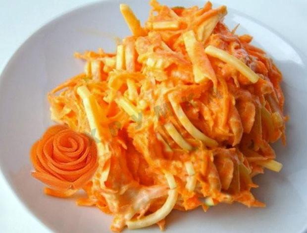 Салат из моркови с чесноком - простой рецепт для диабетиков